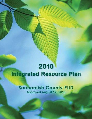 IRPfinal_091511.pdf - Snohomish County PUD