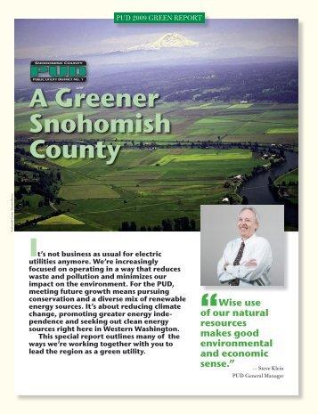 2009GreenReport.pdf - Snohomish County PUD