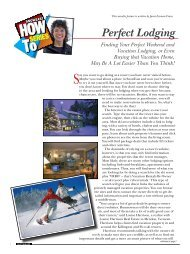 Perfect Lodging - Snow East Magazine