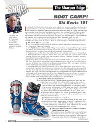 Ski Boots 101 - Snow East Magazine