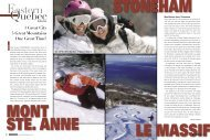 Eastern Quebec - Snow East Magazine