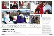 Mont Blanc Gray Rocks - Snow East Magazine