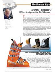 What's Up With Ski Boots - Snow East Magazine
