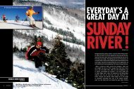 SUNDAY RIVER RESORT - Snow East Magazine