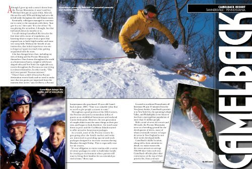 CAMELBACK RESORT - Snow East Magazine