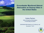 Groundwater Monitored Natural Attenuation at Cleanup Sites in the ...