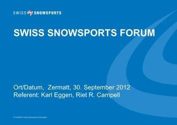 SWISS SNOWSPORTS FORUM