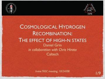 08 talk on hydrogen recombination