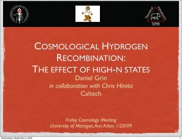 Cosmological hydrogen recombination and high