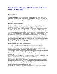 Protokoll för SRS-mötet den 9-10 mars 2004 i Kiruna - Rymdstyrelsen