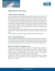 SIEM References, S&T Hungary