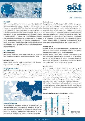 www.snt-world.com S&T Factsheet