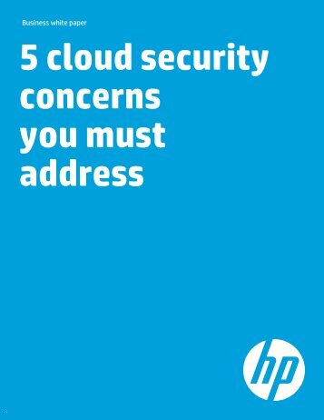 5 cloud security concerns you must address BWP (US English) - HP