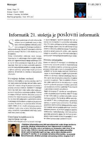Informatik 21. stoletja - S&T Slovenija d.d.