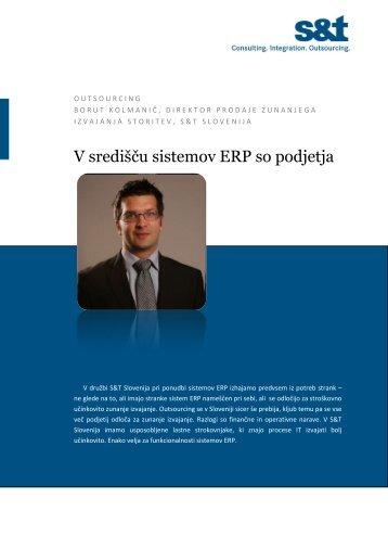 V središču sistemov ERP so podjetja - S&T Slovenija d.d.