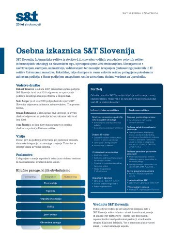 Press Kit - S&T Slovenija d.d.