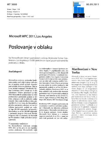 Poslovanje v oblaku - S&T Slovenija d.d.