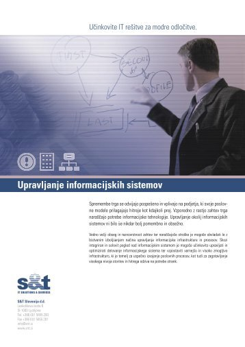 Upravljanje informacijskih sistemov - S&T Slovenija d.d.