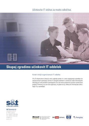 Skupaj zgradimo učinkovit IT oddelek - S&T Slovenija d.d.