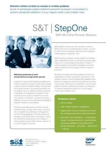 S&T | StepOne - S&T Slovenija d.d.