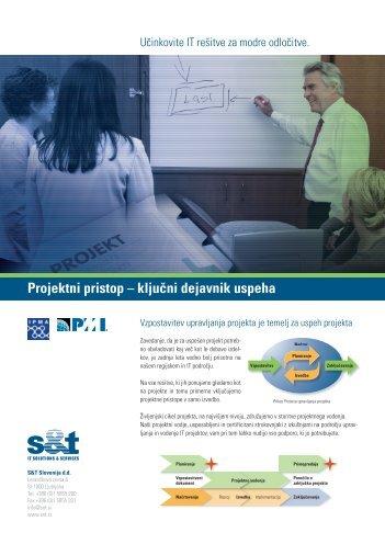 Projektni pristop – ključni dejavnik uspeha - S&T Slovenija d.d.