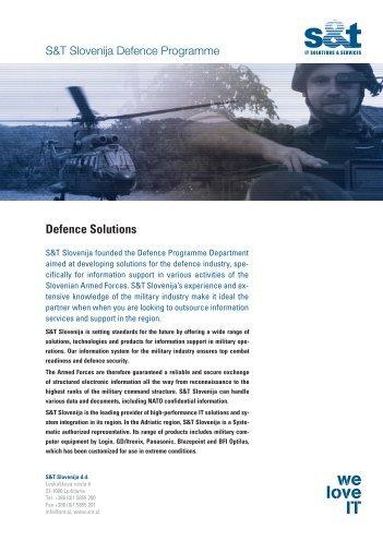 Defence Solutions - S&T Slovenija d.d.