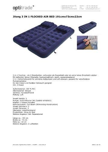 Schlafsack / Isomatten / Luftbett
