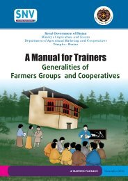 Generalities of Farmers Groups and Cooperatives - SNV