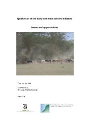 Quick scan of the dairy and meat sectors in Kenya Issues and ... - SNV