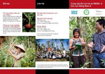 Cung cấp Đa Lợi ích từ REDD+ ở khu vực Đông Nam Á Đối ... - SNV