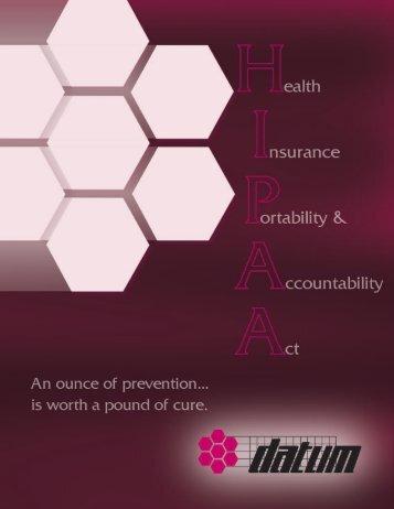 Datum HIPAA brochure.pdf - Snyder Equipment, Inc.