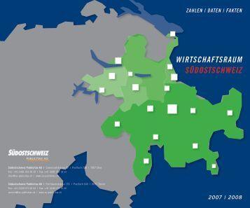 Broschüre Wirtschaftsraum Südostschweiz