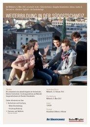 weiterbildung in der südostschweiz - Südostschweiz Publicitas AG