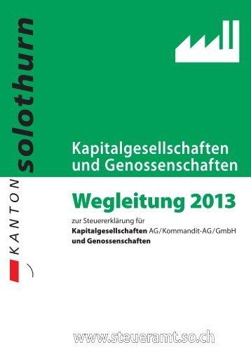 Wegleitung 2013 - Kanton Solothurn