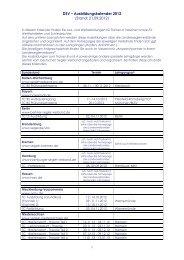 DSV – Ausbildungskalender 2012 - Deutscher Segler-Verband