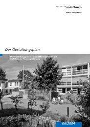 Der Gestaltungsplan nach solothurnischem Recht. - Kanton Solothurn