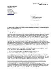 Kreisschreiben vom 14.11.2012 - Kanton Solothurn