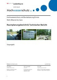 Raumplanungsbericht & Technischer Bericht - Kanton Solothurn