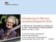 Fahreignung im Alter aus neuropsychologischer Sicht