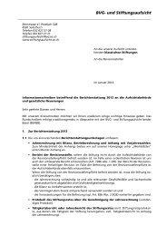 Informationsschreiben an die klassischen Stiftungen 2014