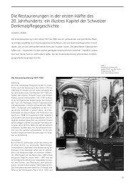 Die Restaurierungen in der ersten Hälfte des 20. Jahrhunderts: ein ...
