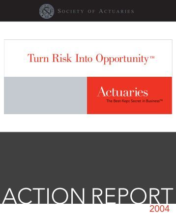 2004 Annual Report - Society of Actuaries