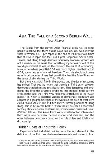 The Fall of a Second Berlin Wall - Cato Institute
