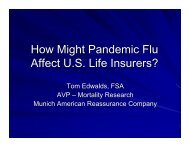 How Might Pandemic Flu Affect US Life Insurers? - Society of Actuaries