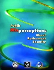 Public Misperceptions About Retirement Security - Society of Actuaries