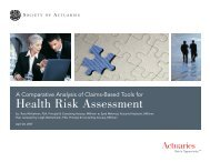 A Comparative Analysis of Claims-Based Tools for Health Risk ...