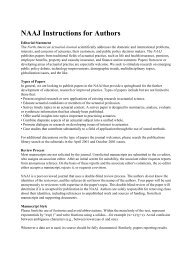 (NAAJ) Author Guidelines - Society of Actuaries