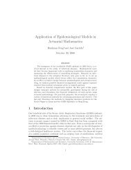 Application of Epidemiological Models in Actuarial Mathematics