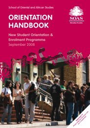 orientation handbook - The School of Oriental and African Studies