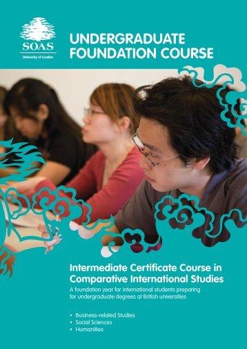 Undergraduate Foundation Course ICC Brochure (pdf; 664kb)